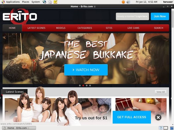 Free Erito Password Account