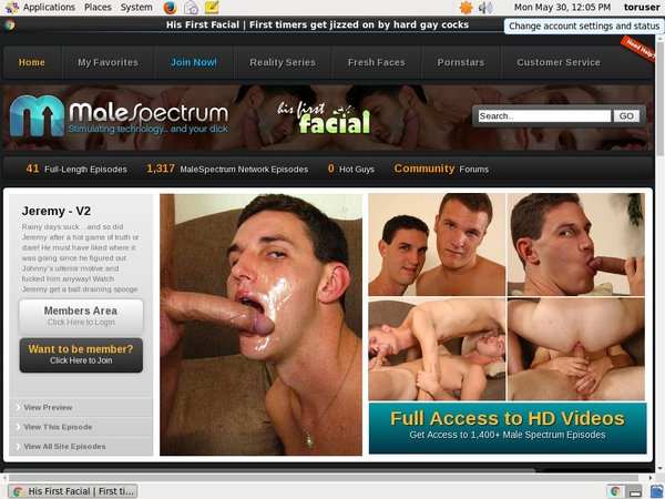 Free Video His First Facial