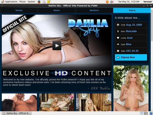 Free Dahlia Sky Login Account